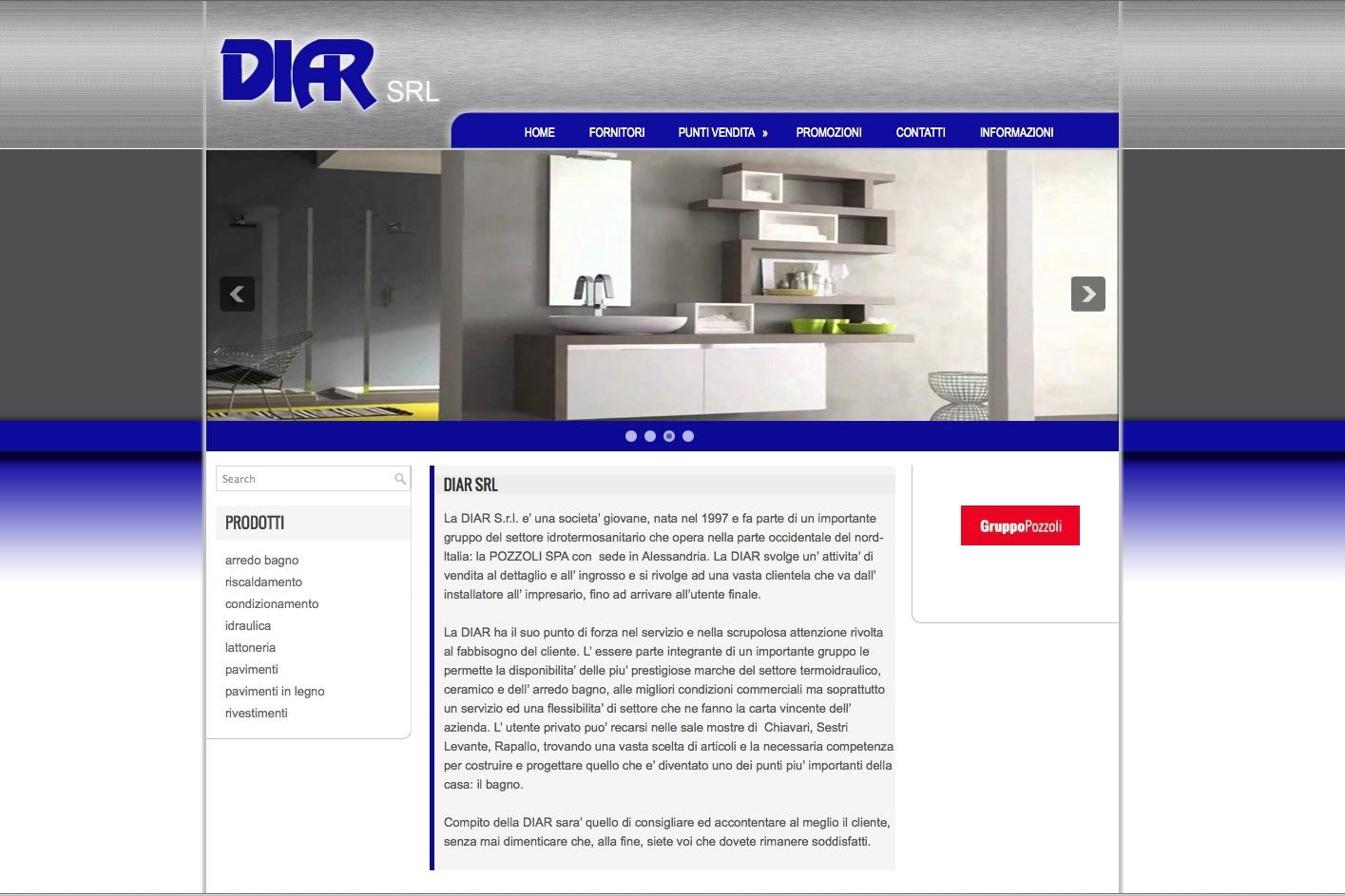 realizzazione sito web diar srl - sestri levante/chiavari/rapallo ... - Arredo Bagno Sestri Levante