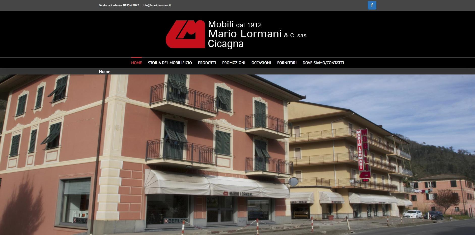 realizzazione sito web mario lormani mobili cicagna
